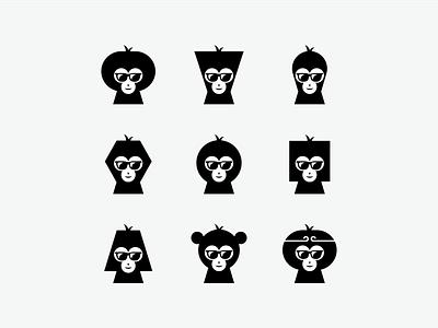 MONKEY GEOMETRIC HAIR STYLE logoroom app icon appdesign logoawesome monkey logo monkey geometic abstract logo logodesigner brand identity logopassion logoart behance logos dribbble