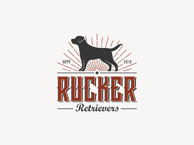 RUCKER RETRIEVERS abstract logo designer vintage design icon vintage logo dog logo logoshift old logoawesome dog logoplace logoroom logos behance dribbble