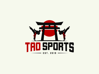 TAO SPORTS logoplace logo inspiration logodesign logoroom dribble logo awesome sport logo martial logosport logoshift logos icon tao behance