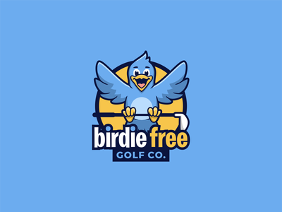 BIRDIE FREE logo passion logoart brandidentity logo brand logoawesome bird logo design logoroom logoshift bird logo bird logos dribble behance colorful