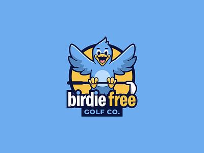BIRDIE FREE logo passion logoart brandidentity logo brand logoawesome bird logo design logoroom logoshift bird logo bird logos dribble behance colorful