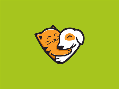 PET LOVE animal logo designer brand identity icon logoart logoroom dribble cute logo cute animals logoawesome petlover logos behance
