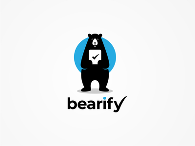 BEARIFY logo brand logo art logo design brand identity logoplace behance application tecnology applogo app design icon bear logo dribble logoawesome