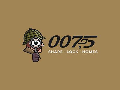 007 5 logopassion logobrand logoart modern flatdesign logoshift logos logoawesome sherlock holmes sherlock detective logo design abstract logo icon behance dribble