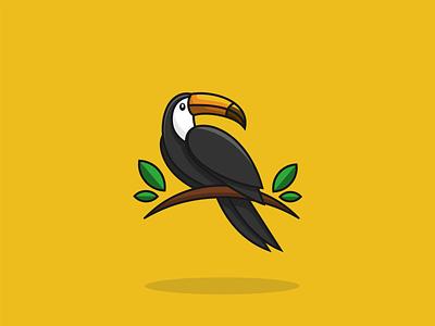 TOUCAN logobrand dribble abstract logo flatdesign logoinspiration logoart logoroom logoawesome chef toucan logo toucan icon cute logo logo design logos behance