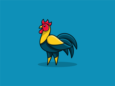 ROOSTER awesome logo logo passion abstract logo flat design chef cute logo modern icon logodesign logoshift rooster dribble logoroom logo