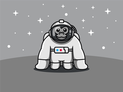 GORILLA ASTRONAUT logodesigner logoplace modern logos brand identity logoart behance flat design astronaut logo astronaut logoawesome cute logo gorilla logo logo icon gorilla abstract logo logoroom dribble