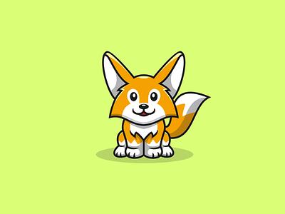 CUTE FOX abstract logo logo art cute logo logoart logoawesome logoshift logoroom design dribble logos icon behance