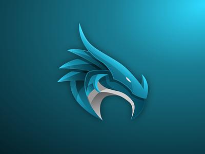 BLUE DRAGON logo flatdesign colorful modern dragonlove gradient dragonlogo dragon logoshift logoroom icon design dribble logos behance