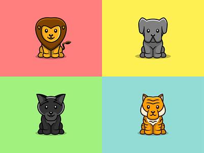 CUTE ANIMALS abstractlogo abstract modern cutelogo cute logoawesome cuteanimals animals logos logoshift logoroom behance dribble icon design