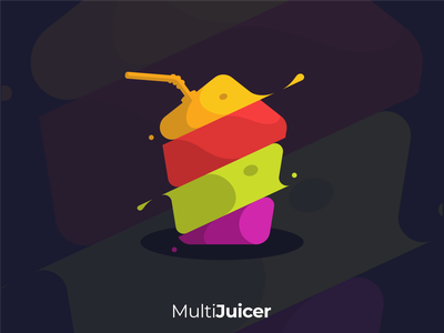MULTI JUICER logodesigner flatldesign logoawesome juicerlogo juicelogo juice fruitlogo food fruit logo design logoshift dribble icon logoroom logos behance