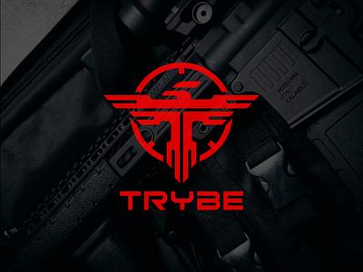 TRYBE modern abstract logo coollogo gun firearm logo firearm awesomelogo logo design logoshift logos dribble icon logoroom behance
