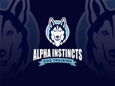 ALPHA INSTINCTS modern abstract dog dogtraining huskylogo huskylove doglogo awesomelogo design logo logoshift logos dribble icon logoroom behance
