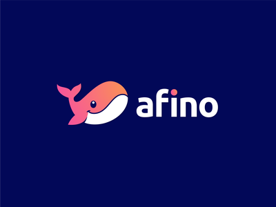 Afino abstractlogo whaledesign app applicationlogo logoawesome whalelove applogo whalelogo whale abstract dribble logoshift logoroom logos icon logo behance design