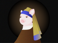 Piggy with a Pearl Earring