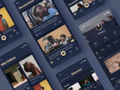 Vlog App Design 2 - Night Mode