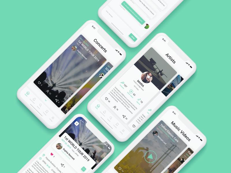 Mobile App For Musicians | UI Concept ux design ui design smartphones musicians mobile app ios concept app app