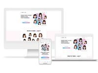 GENE A.I.dols | Landing page & Logo design japan uiux responsive design blockchain artificial intelligence logodesign landingpage webdesign