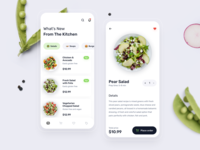 Food Delivery UX-UI Design ecommerce store cards online shopping menubar menu interface recipe cook product app mobile restaurant ui  ux ui minimal ios health salad food