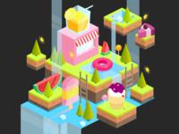 Candy island -  level design