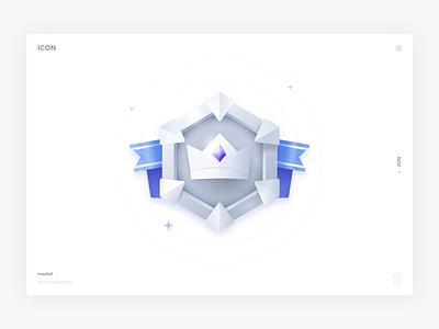Silver icon web vector ui silver rank medal level label game icons icon gold diamond crown congratulation color blue badge awards app