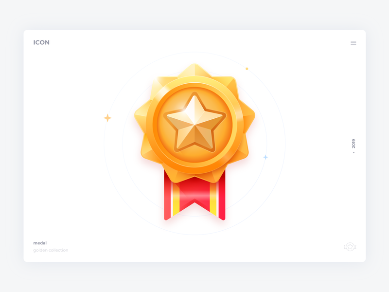 Gold icon colors web ui rank medal level label icons gold game congratulation star rich red badge icon award app vector