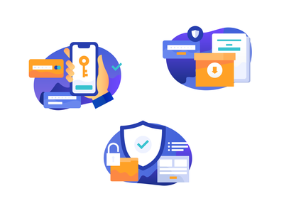 Icon set for a password security app business safe box key ui password-key data-protection smartphone safety infographic vector cyber security information security crypto blockchain icon set lock password icon payments