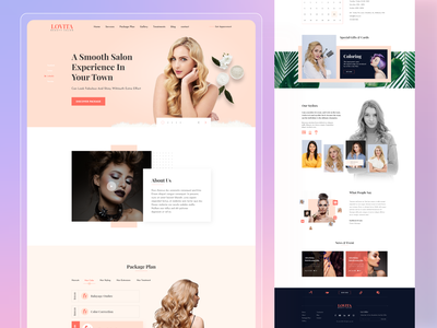 Lovita - Spa & Beauty Landing Page spa beauty beauty app website landing page website design uiux treatment beauty salon salon beauty landing page spa landing page surgery cosmetics girl fashion minimalist service beauty clinic fashion landing page