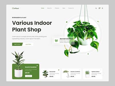 Interior Plant Shop Landing Page🌱🌱 shopify interior plant indoor plant ui ux plant design creative popular app ui shop app design ecommerce shopping plants online store inspiration