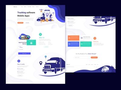 Trucking Software Landing page