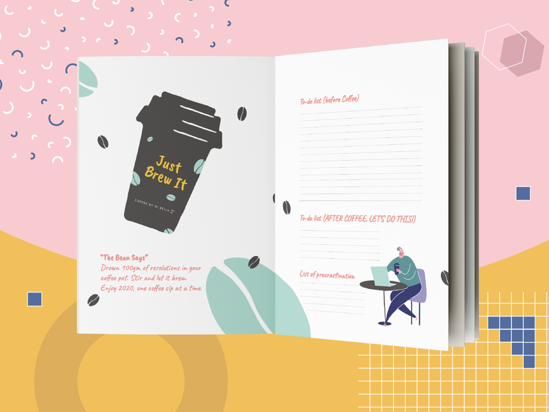 Daily Planner   Coffee By Di Bella adobe indesign colorful quirky organizer planner diary publication print design print campaign vector marketing identity design advertising minimal illustration typography adobe photoshop adobe illustrator design
