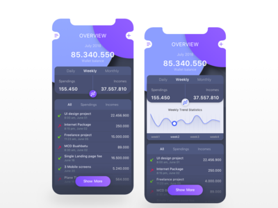 Personal Expense App Concept