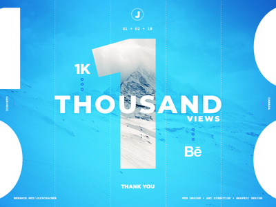 Behance Milestone 1k Views
