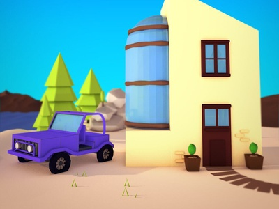 #Everyday nr. 6: Lowpoly Holiday!
