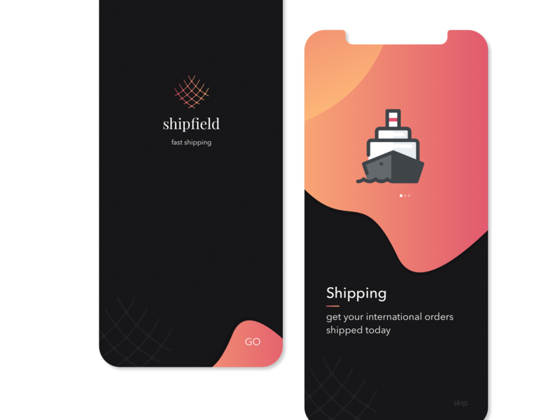 Shipping Organisation app concept. typography design branding booking concept iphone ios ux ui app
