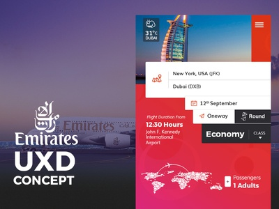 Emirates Uxd Concept app android ios world travel emirates dubai pass bording flight booking