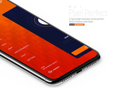 IOS & Android app UX/UI side-menus mobile-navigation app trend latest ui ux ios s8 iphonex android