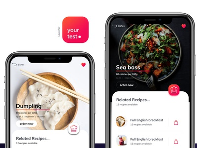 Yourtest Dribbble world ux ui iphone ios health food design iosapp