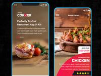 Food Corner restaurant app concept