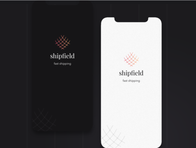 Shipfield app splash color combination. vector illustration logo booking concept iphone ios design ux app