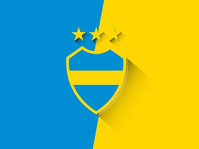 AFA - Flat Design Shields flatdesign afa fútbol soccer bocajuniors argentina
