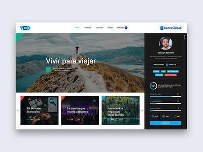 Veo - Profile page ui  ux ux design user inteface typography ux ui design