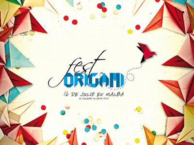Origami Fest origami fest design identity event