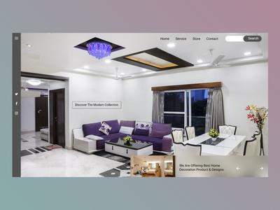 Home Decorator Header concept