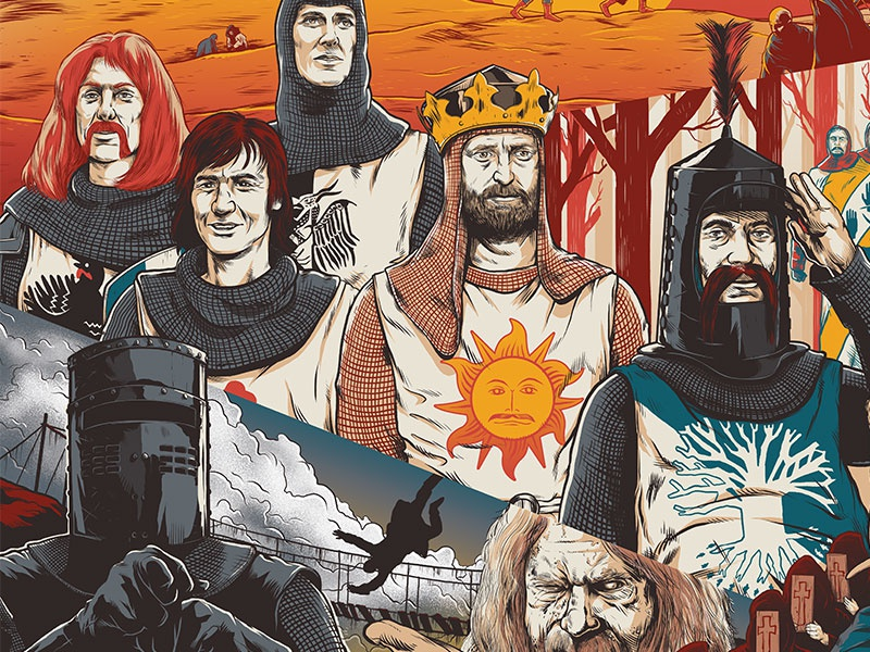 Monty Python and the Holy Grail holy grail poster illustration drawing photoshop monty python