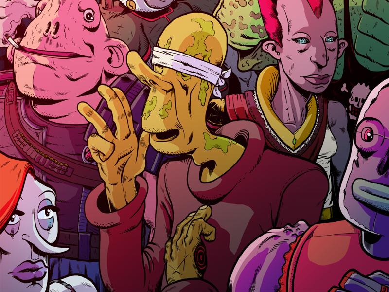 Blindman concept character color aliens wacom photoshop space scifi illustration