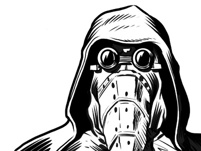 Garindan clip studio paint drawing spy black and white illustration star wars