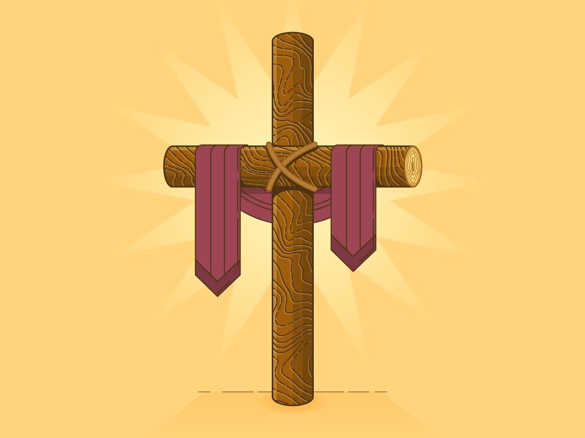 Wood Cross wood logs christ jesus god bible resurrection sunday church christian christianity easter crucifixion