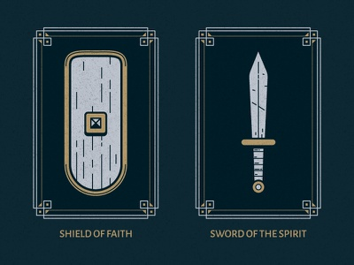 Full Armor Of God | Part 1 simple ephesians illustrator christianity christian design border illustratioin vector god armor bible