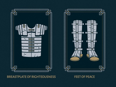 Full Armor Of God | Part 3 bible armor god vector illustratioin border design christian christianity illustrator ephesians simple